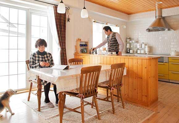 築30年のブロック住宅が、広く北欧風に変身