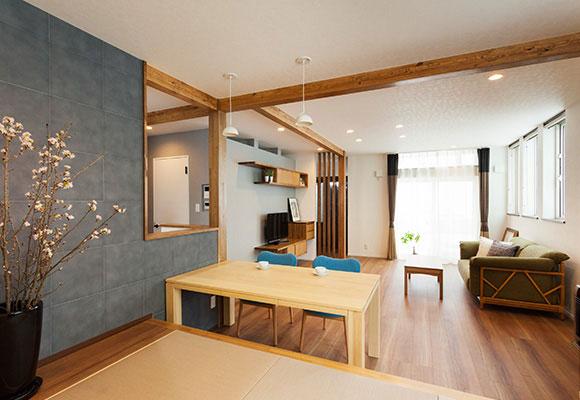 全国リフォーム優秀賞受賞、機能とデザイン性を備えた家