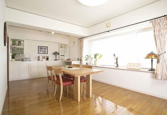 和室とLDを一体化、デザインも納得のマンションリノベーション