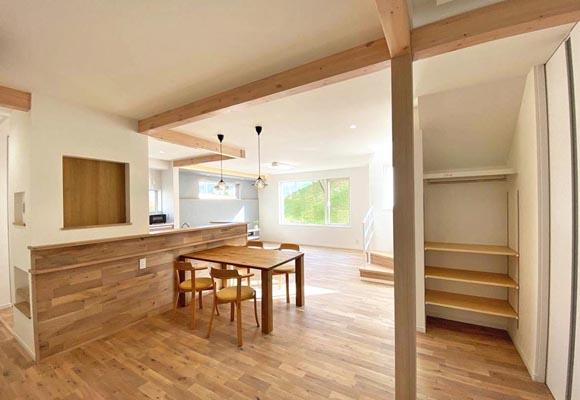 広々リビングで開放感のある家 住宅 新築 工務店 ハウスメーカー
